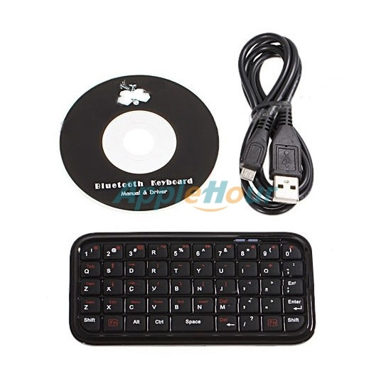 Cute Mini Bluetooth Keyboard for Apple iPad iPhone 4 and Mac/MacBook - Black (MBI16072)  $18.70  www.mnrsoft.com
