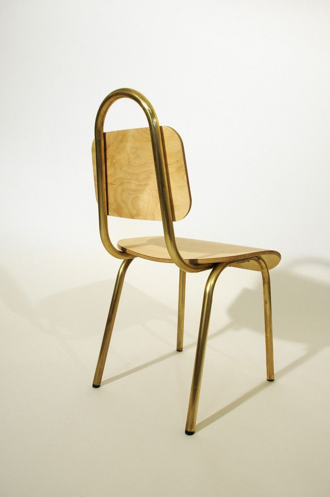 Dining Chair Brass – Primary Grey