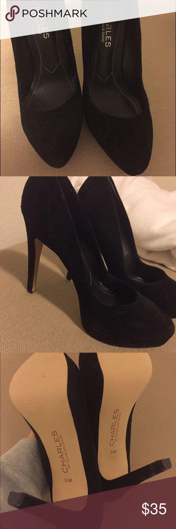 Black suede Charles David pumps Charles David black suede pumps size 5. Only worn once. Charles David Shoes Heels