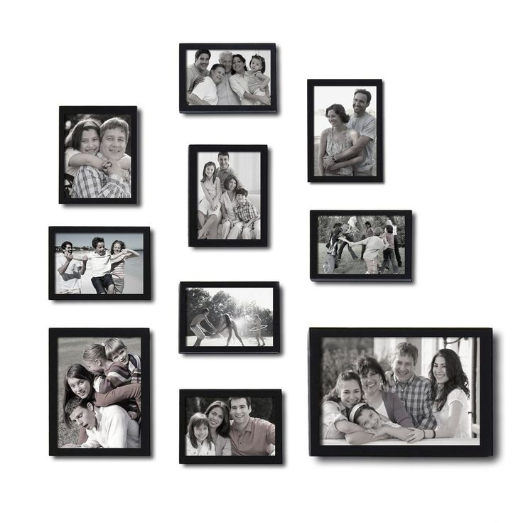 INART Solid Wood Tabletop and Wall Mounting Picture Frames with ...