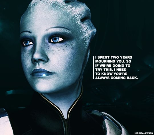 Image result for liara spent 2 years mourning you