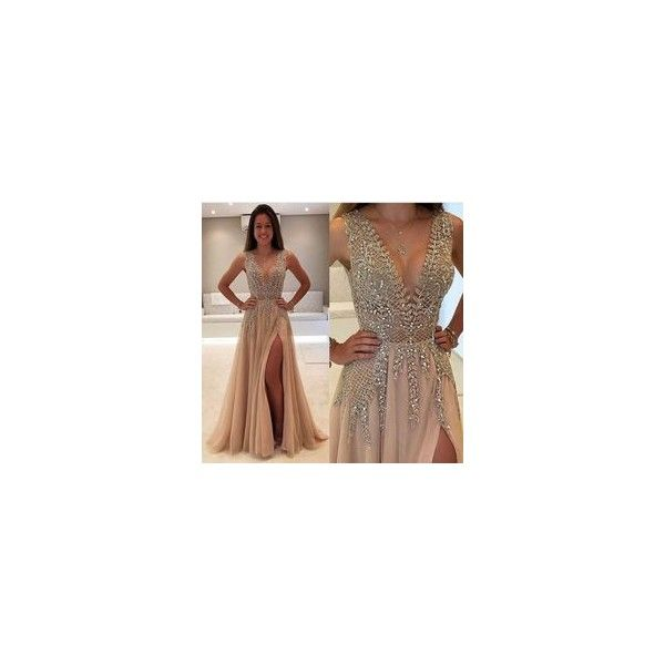 Sequin Prom Dresses,Prom Dress,Back.. ❤ liked on Polyvore featuring dresses, brown dresses, brown sequin dress, sequin prom dresses, prom dresses and cocktail prom dress