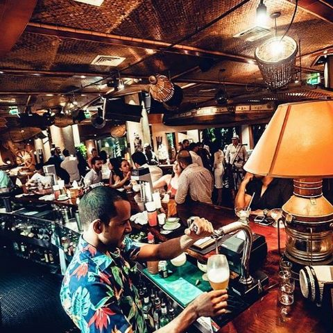 This hula-themed bar has been one of Dubai's go-to bars for years. With several locations around town, you will never find any #TraderVic's quiet or empty.