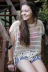 Free crochet pattern...This is the perfect cover-up for the beach.
