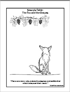 aesops fables and coloring pages - photo#43