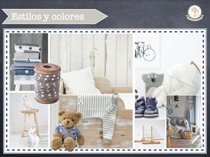 Habitaci n para beb reci n nacido en azules y grises con - Pizarra de pared ikea ...