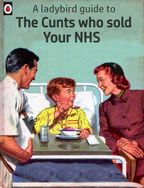 Theresa May PM of the UK plans to sell the NHS