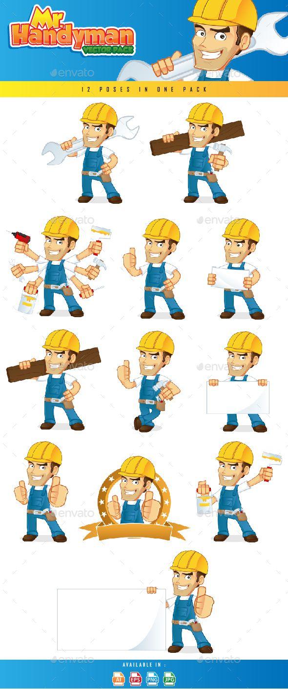 Free handyman price list - Download Free Handyman Set Builder Carpenter Cartoon Character Construction Contractor