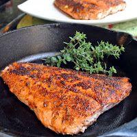 Blackened Salmon...simple, yet wonderfully full of delish :)