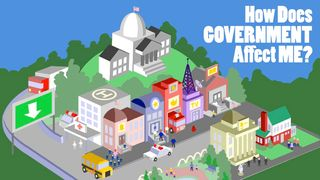 "The PBS ""President for a Day"" interactive game (Grades 3-8) let's children become President and see how the Government affects them in the decision it makes. More fun activities too at PBS KIDS: The Democracy Project."