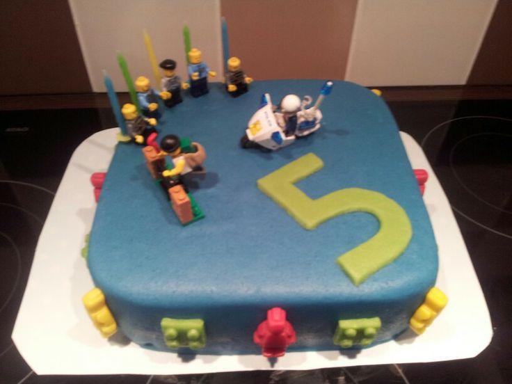 Lego politie taart