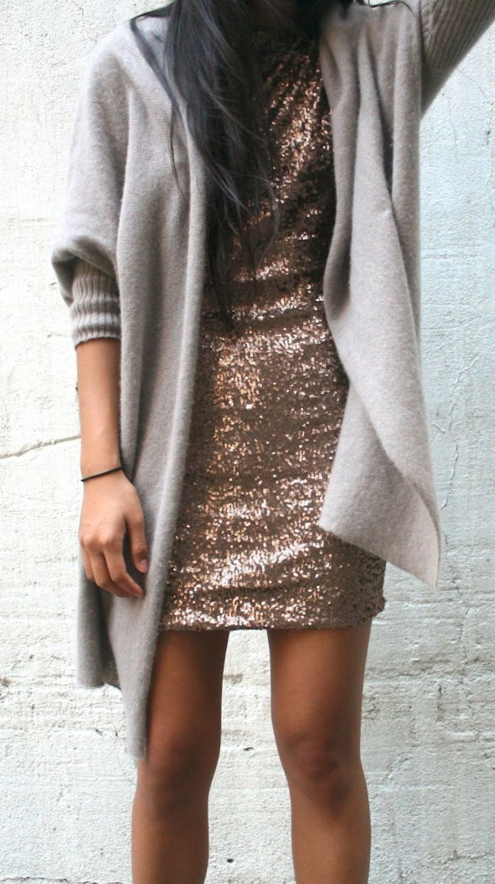 Cashmere + sequins, good combo, I feel like sequins like this are difficult to accessorize