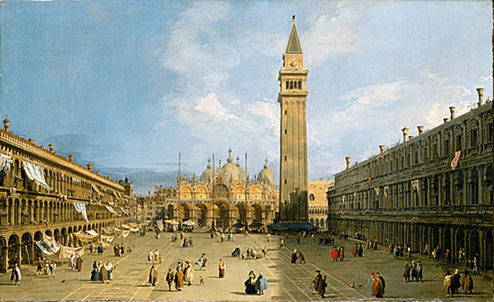 Canaletto - Postcards from #Italy, #Rococo #artist who painted gorgeous views of 18th century #Venice