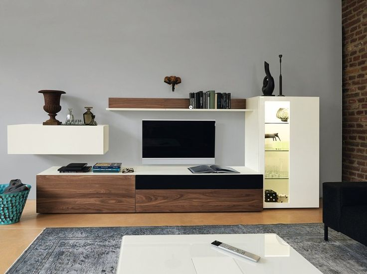 Wooden storage wall Now Vision Collection by Hülsta-Werke Hüls