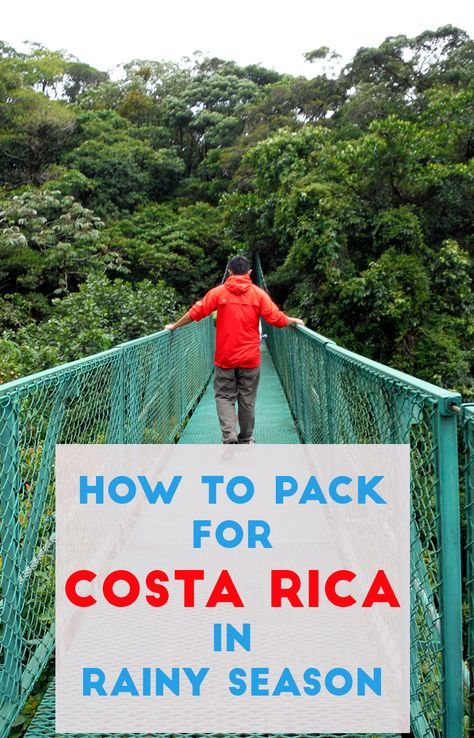 A helpful guide to packing for Costa Rica during the rainy season. If you plan on visiting Costa Rica anywhere between May to December, you need to be prepared for the rain. These are our best tips and advice on how to stay dry, protect your belongings and what essential things you need to bring http://mytanfeet.com/costa-rica-travel-tips/packing-for-rainy-season-in-costa-rica/