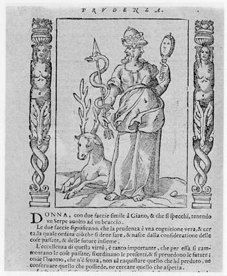 La Prudence, Cesare Ripa, Iconologia, 1603