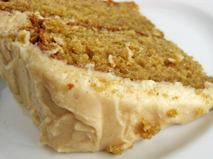 Caramel Apple Layer Cake with Apple Cider Frosting - ingredients include cinnamon, brown sugar, applesauce and caramel sauce.