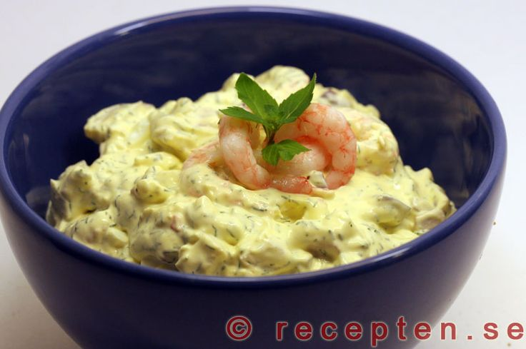 Recept på räkröra till förrätt, räksmörgås, tillbehör till bakad potatis m.m. Gott och enkelt!