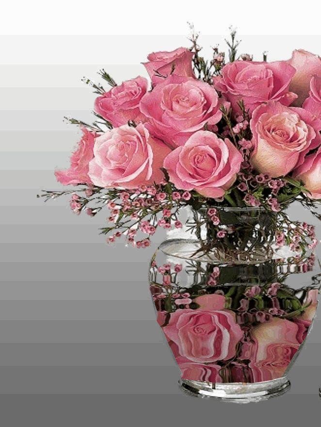 Рисунки, гифка розы букет