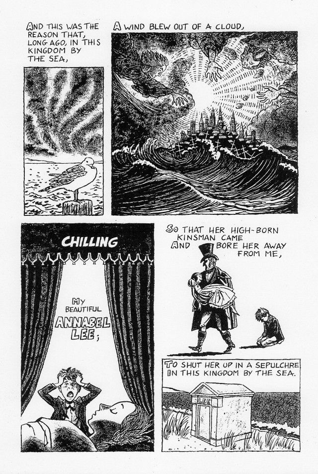 "Page 3- Annabel Lee by Edgar Allan Poe Credits: http://julianpeterscomics.com/annabel-lee/ """