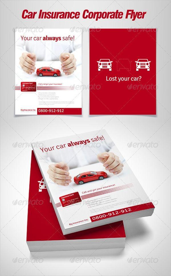 15 Insurance Flyers Psd Word Eps Vector Format Corporate Flyer Car Insurance Flyer