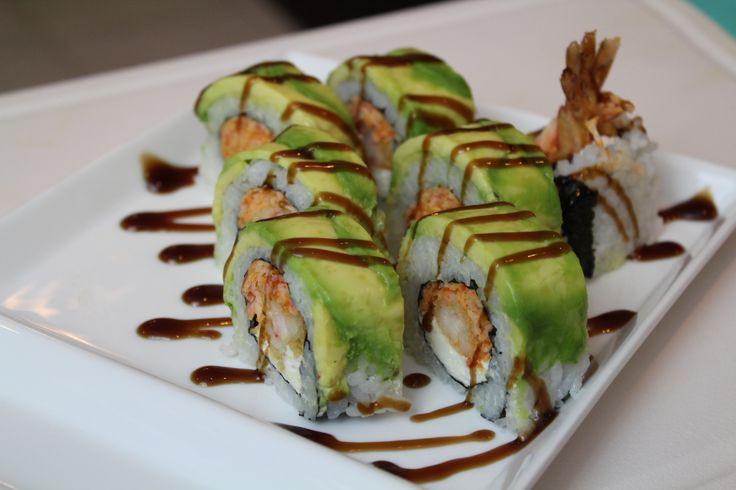 American Dream Sushi Roll Spicy crab, shrimp tempura, cream cheese, avocado.