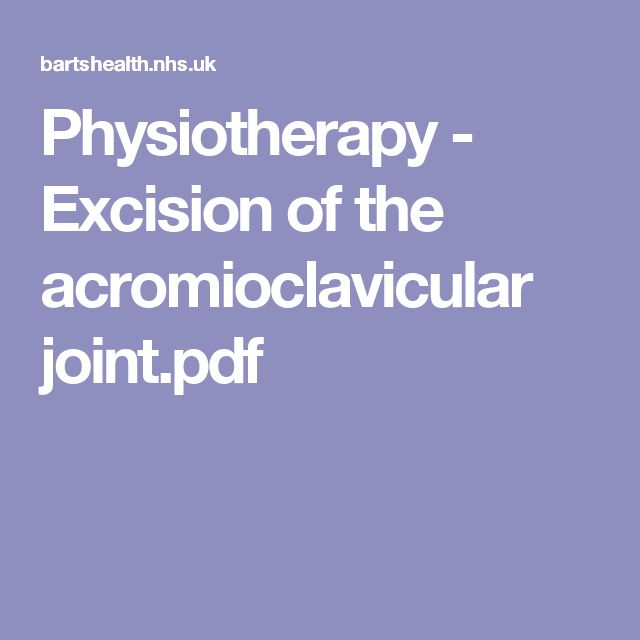 Physiotherapy - Excision of the acromioclavicular joint.pdf