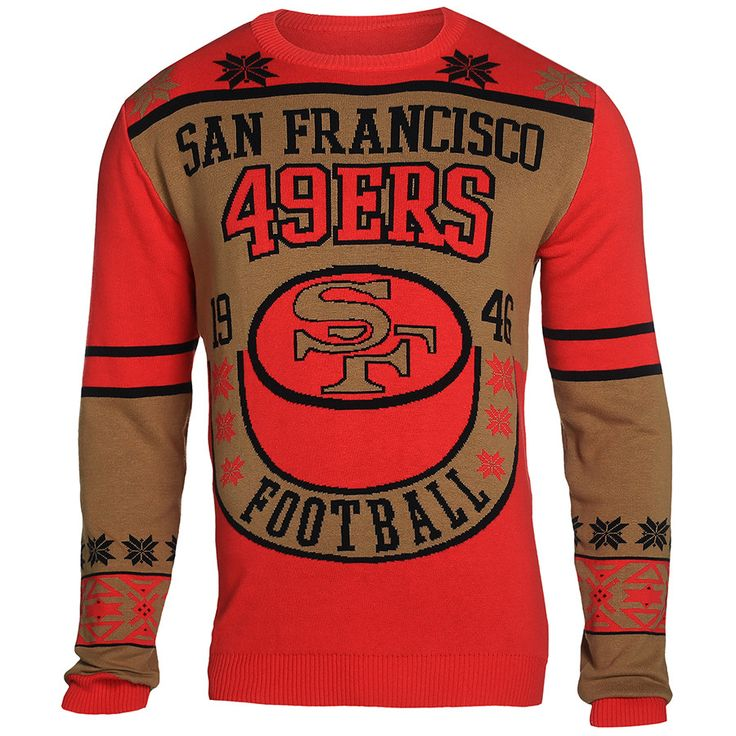 San Francisco 49Ers Cotton Retro Sweater from UglyTeams