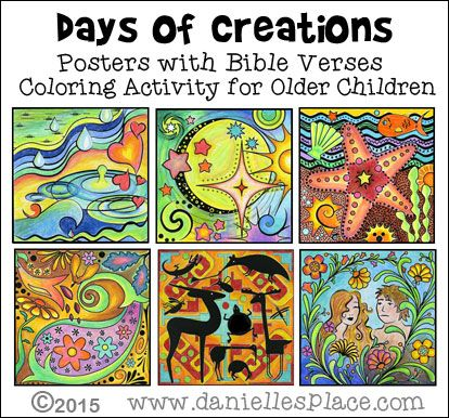 Days Of Creation Bible Verse Coloring Sheets From Www