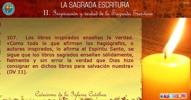 MISIONEROS DE LA PALABRA DIVINA: LA SAGRADA ESCRITURA - CATECISMO DE LA IGLESIA CAT...