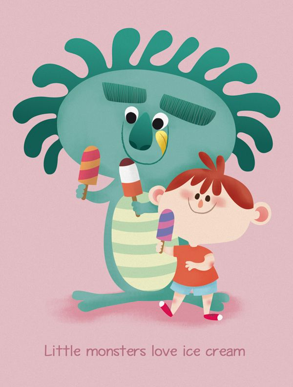 Little monsters by Katia De Conti, via Behance