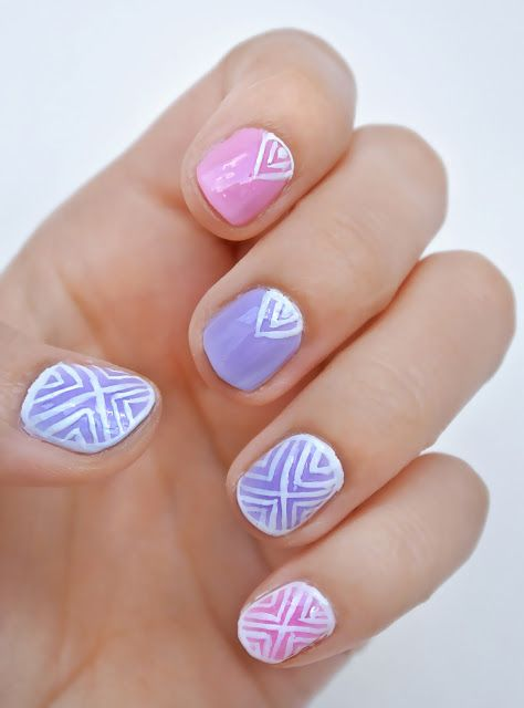 Pretty Aztec Nail Art