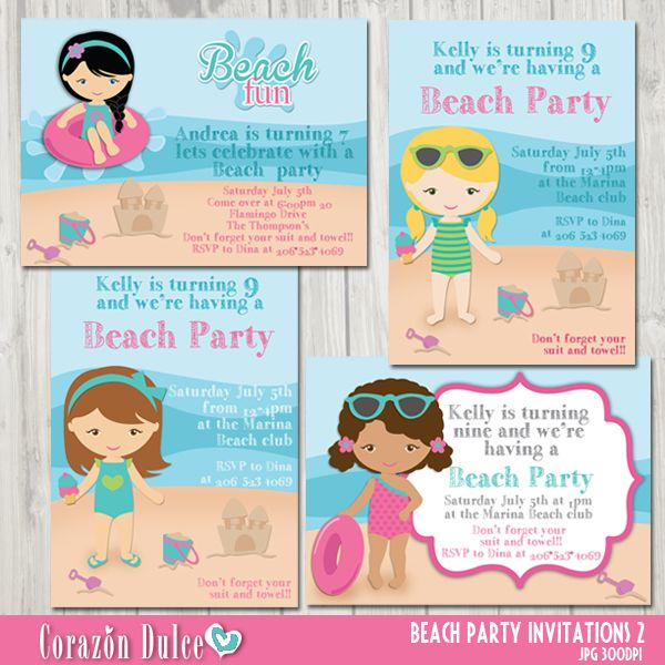 13 best Printable 1st First Birthday Invitations Templates images on - best of invitation templates for beach party