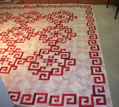 Aegean Sea quilt made by Ruth Pontius. Pattern from Stellar Quilts by Judy Martin.