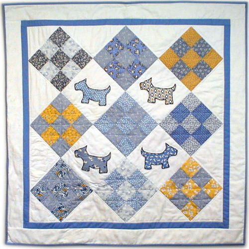Quilt Pattern For Scottie Dog : 17 Best images about 1930 s Reproduction Quilt Fabric on Pinterest Dog baby, Yo yo and Baby quilts