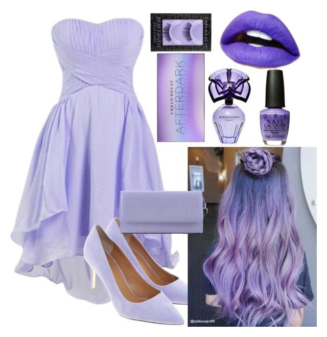 """""""Ladies in lavender💜💜💜"""" by brynnmarx1 ❤ liked on Polyvore featuring Tory Burch, Zanellato, BCBGMAXAZRIA and Urban Decay"""