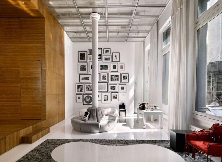 Love this But want different color wood Like Black or Mirror   loveisspeed.......: White Street Loft in New York City