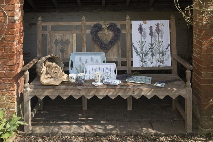 A lovely collection of placemats, trays, mugs and gifts with a delicate lavender design