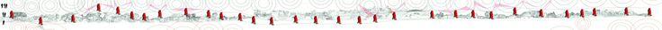 Subject response to the presence of the other subject(s) in their area. Diagram yang menceritakan tentang respon yang berbeda-beda dari berbagai subjek di dalam site, berkaitan erat dengan luasan lahan yang ditempati oleh subjek di site, dan jumlah individu dalam kelompok tersebut. Respon yang diberikan berbeda-beda dapat berupa pandangan maupun interaksi langsung dengan subjek yang mendatangi area mereka.