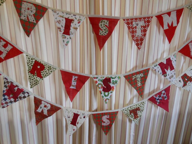 Bunting with the letters making up the word Christmas has been very popular.