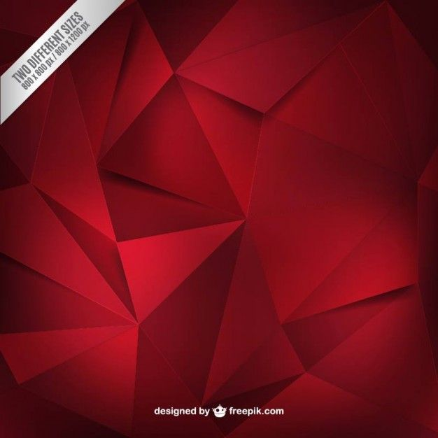 Red polygons background Free Vector