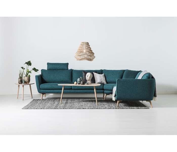 Splitter nya Najs hörnsoffa i tyg Side Petrol - Svenska Hem. En modern soffa TX-45