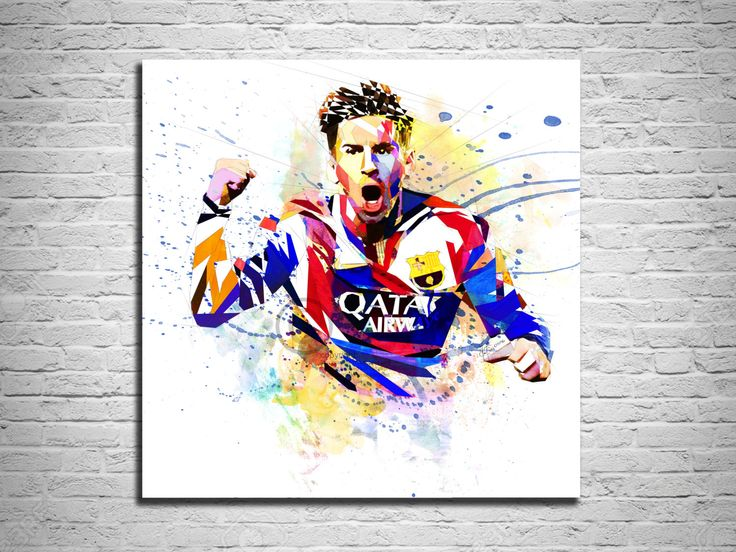 Lionel Messi Art, Canvas Print, L Messi Poster, Lionell Messi fan art, FIFA art, Watercolor painting, Contemporary Abstract Drawing by KatiaSkye on Etsy