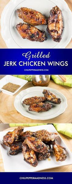Grilled Jerk Chicken Wings with Homemade Jamaican Jerk Sauce