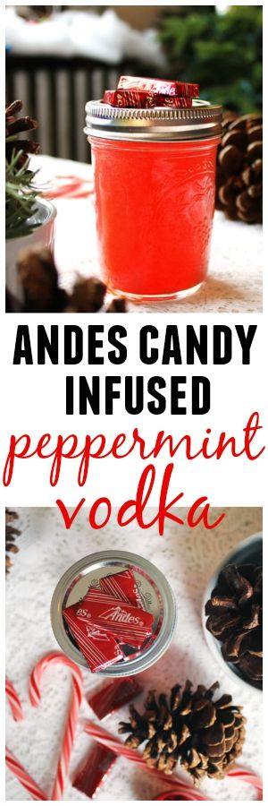 Andes candy infused peppermint vodka! Awesome as a holiday gift!