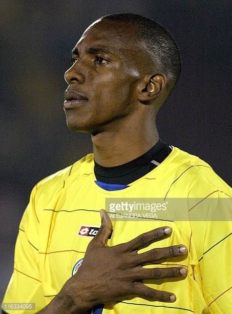 Amaranto Perea of Colombia's national soccer team poses before a friendly game against Paraguay 28 March at El Campin Stadium in Bogota AFP...
