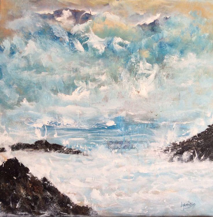 Seascape in acrylic on canvas Lynne Bishop