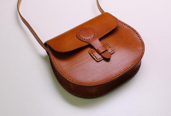 Handmade Leather satchel bag shoulder bag black coffee yellow for women leather crossbody bag
