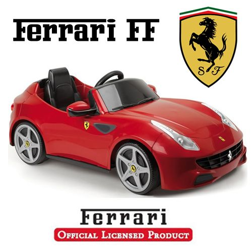 feber licensed official 6v red ferrari ff kids car 18995 kids electric cars