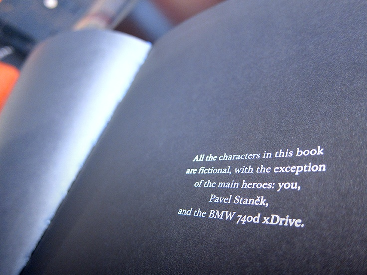 DM piece contained a personalized novel introducing the new BMW 7 Series